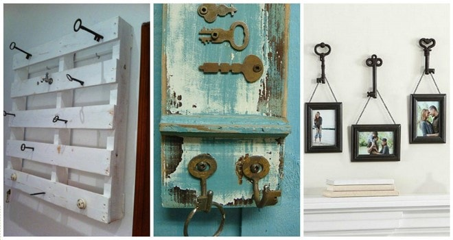 wall hangers diy old keys decorating ideas