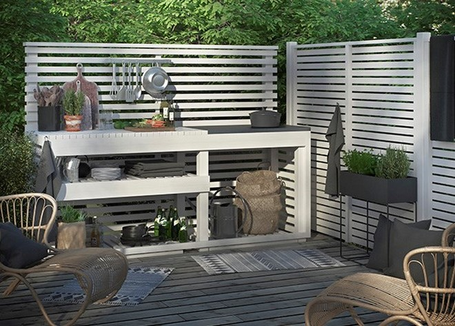 build it yourself outdoor kitchen wood frame open shelves storage