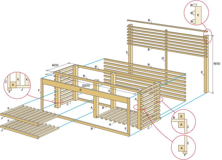 plans to build outdoor kitchen wooden frame on a budget