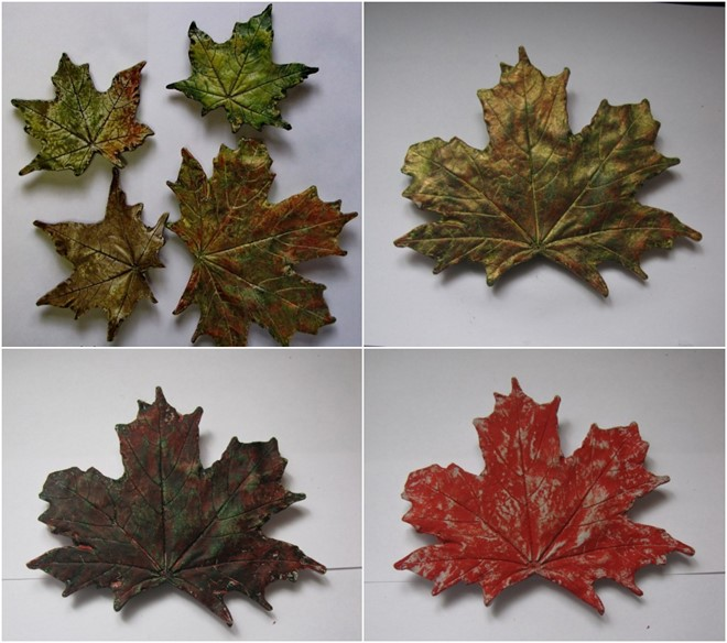 maple leaf made of concrete or gypsum