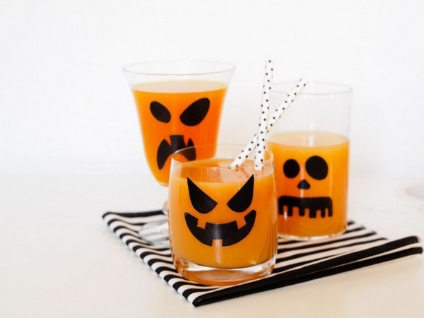 ghosts glasses various grimaces last minute halloween party decorations