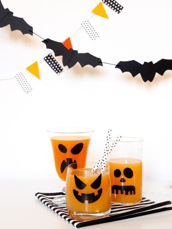 scary fruit drink glasses last minute halloween kids room decor