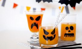 scary ghosts fruit drink glasses last minute halloween decorations to make