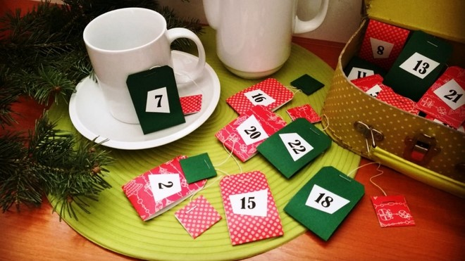 christmas countdown advent calendar tutorial handmade teabags