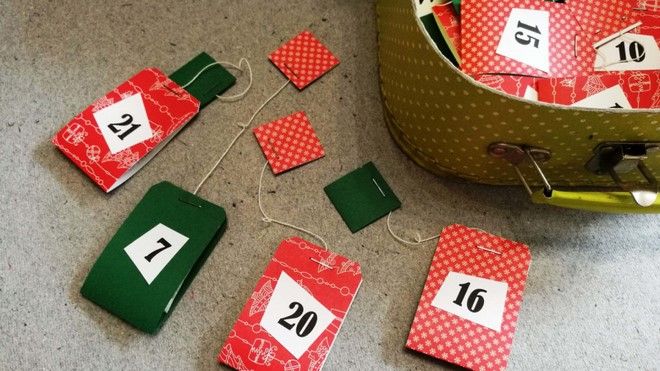 diy advent calendar for men who like drinking tea
