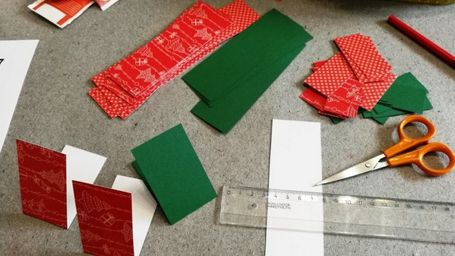 how to make an advent calendar cut out christmas themed paper