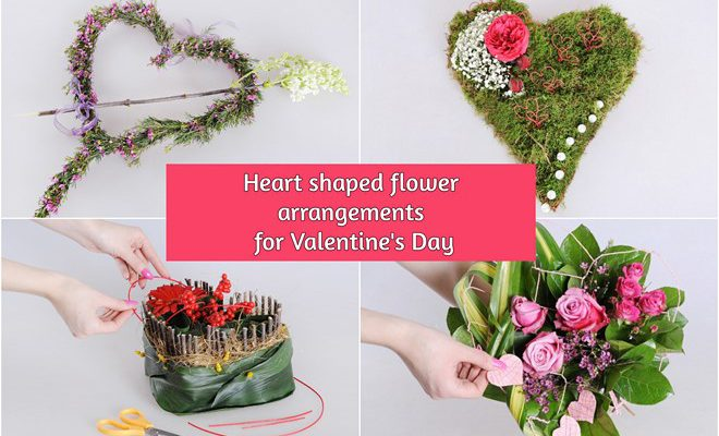 How To Make Heart Shaped Flower Arrangements For Valentine S