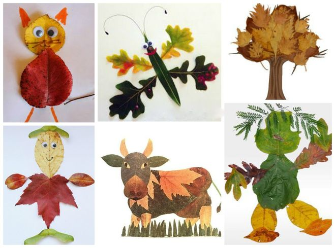 childrens fall leaf crafts animals