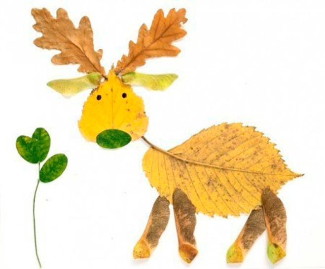 diy fall leaf crafts reindeer