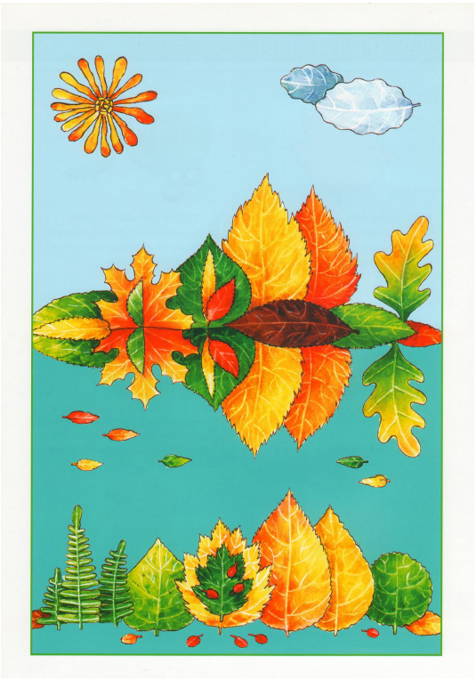 fall leaf art and crafts for preschool autumn landscape