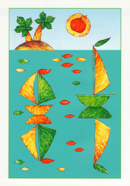 fall leaf art projects for preschool sailing boats