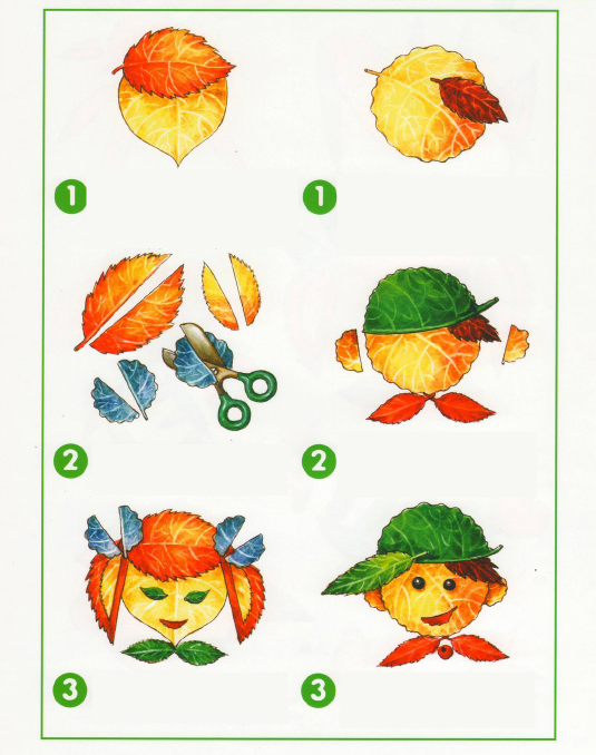 fall leaf arts and crafts for preschoolers boy and girl