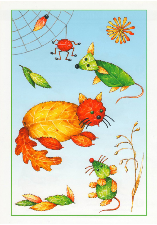 fall leaf crafts for preschool animals project cat and mouse