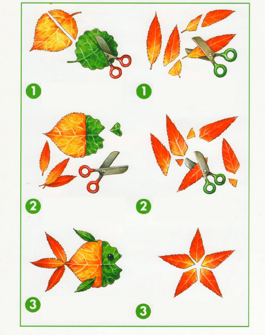 fall leaf crafts for preschool easy project fish and star