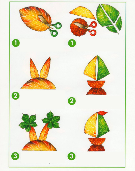 fall leaf crafts for preschool palm trees and sailing boat