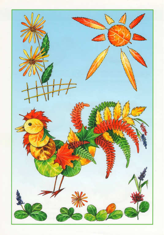 fall leaf crafts for preschool rooster