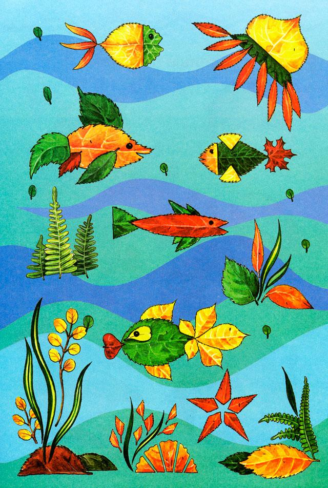 fall leaf crafts for preschoolers art project underwater world