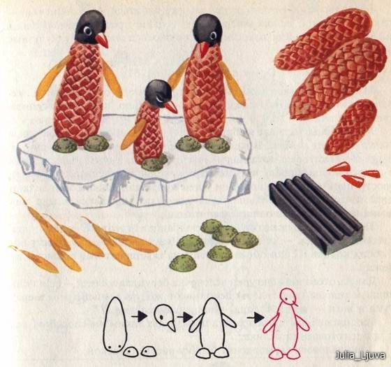 simple autumn crafts to make with kids penguins from pinecones