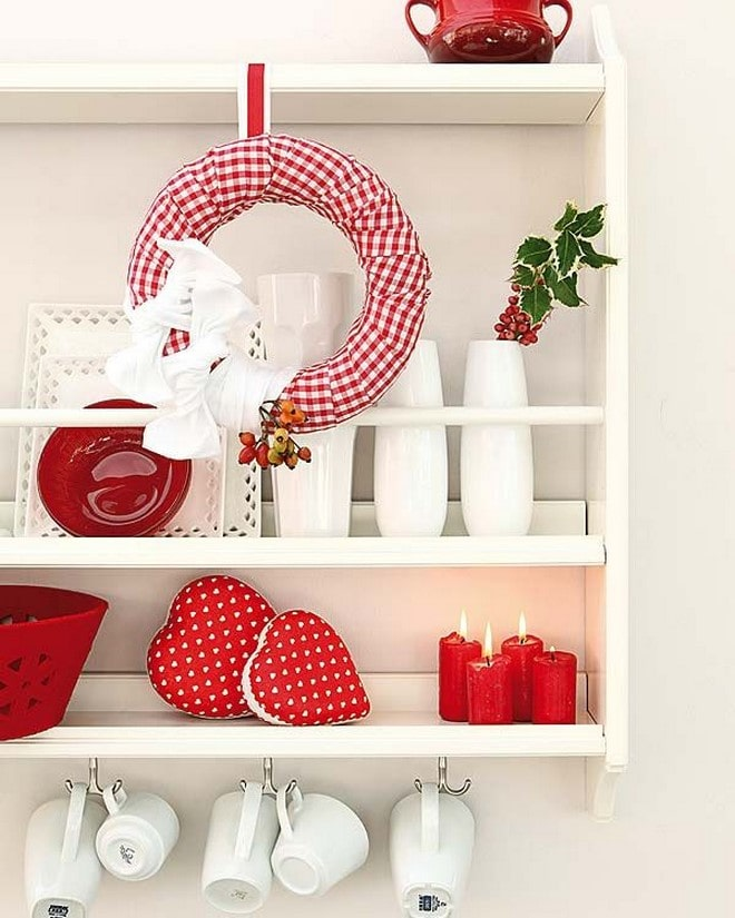 diy styrofoam wreaths idea with red fabric and berries