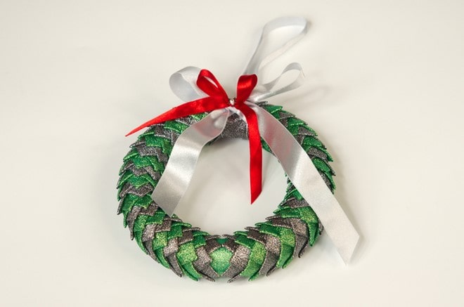 styrofoam wreath with ribbon beautiful handmade craft idea