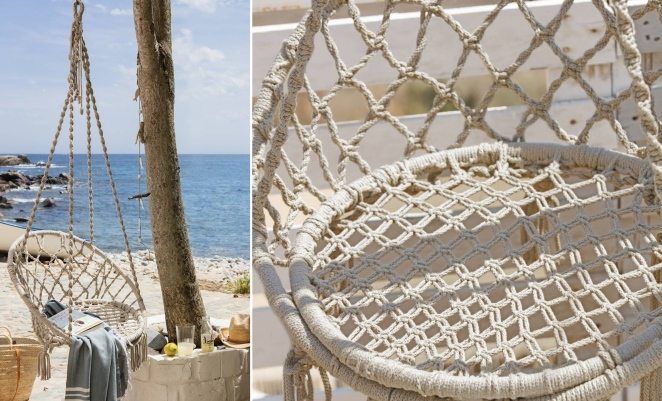 macrame hanging chair diy pattern