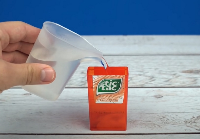 bubble maker for kids from small tic tac container