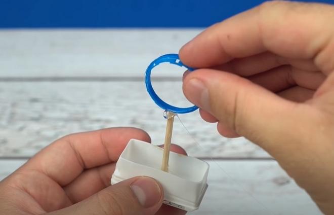 bubble maker homemade from plastic bottle ring