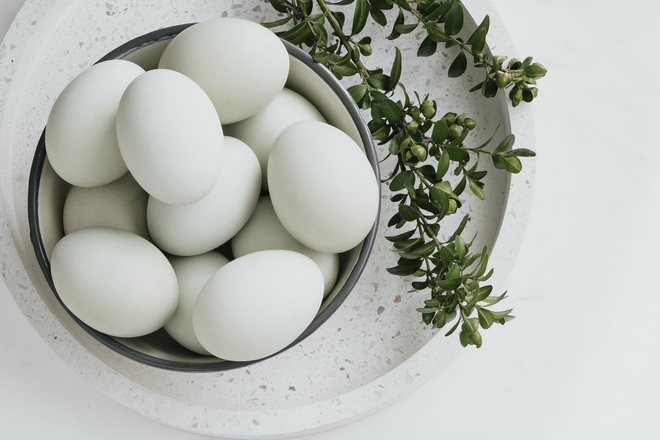 pure white egg shell for colorful easter decorations